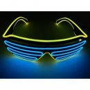 LED Neon Brille Gelb / Blau