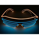 LED Neon Brille Orange / Blau