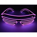 LED Neon Brille Pink
