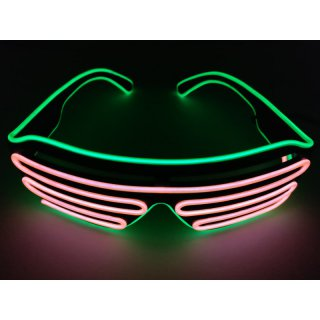 LED Neon Brille Grün / Orange