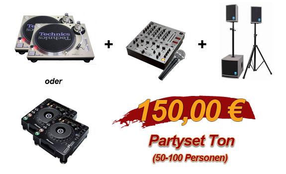 Partyset Ton