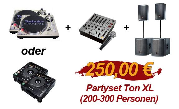Partyset Ton XL