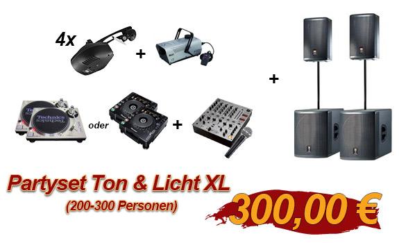 Partyset Ton & Licht XL