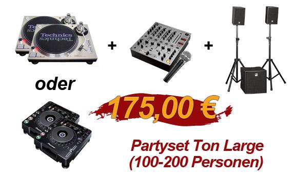 Partyset Ton L