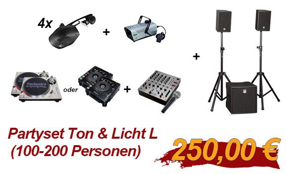 Partyset Ton & Licht L